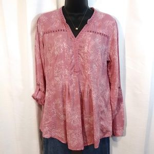 Vintage America Blues/ Mauve Pink Tunic/ Medium